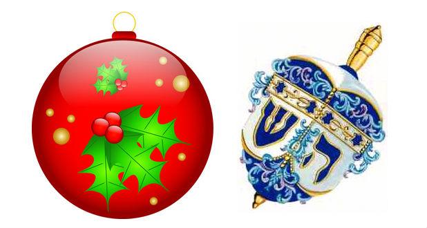 Christmas and Dreidel